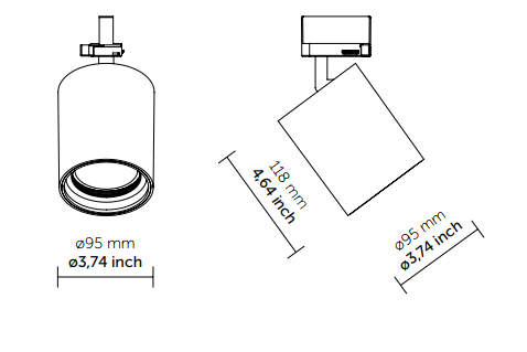 Трековый светильник Quattrobi SAM LINE VOLTAGE 30W, фото 2