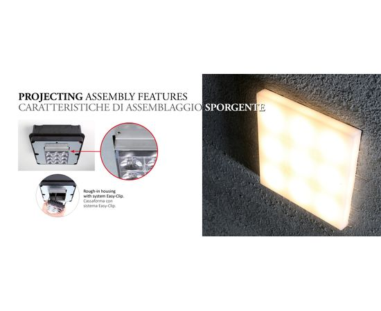Встраиваемый светильник Castaldi Lighting AXEL SQUARE CONCRETE, фото 3
