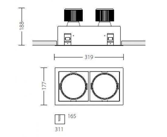 Встраиваемый светодиодный светильник Quattrobi MACROQUADRO LED, фото 4