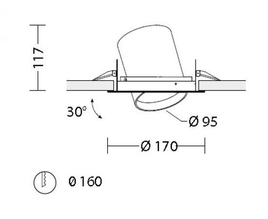 Встраиваемый светодиодный светильник Quattrobi SAM 95 FASHION, фото 2