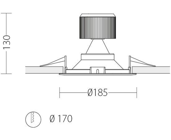 Встраиваемый светодиодный светильник Quattrobi ENERGIE, фото 2