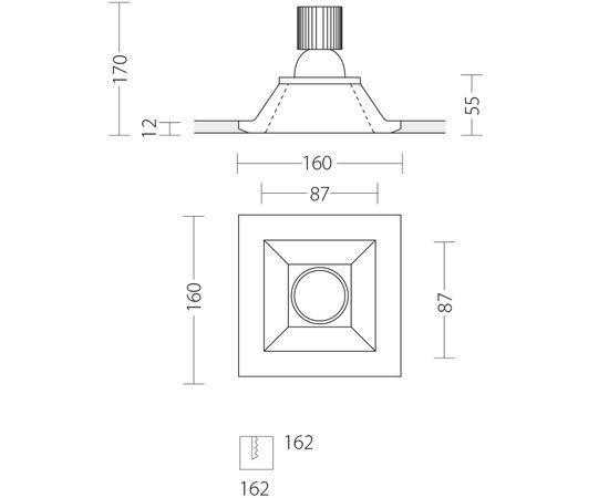 Встраиваемый светодиодный светильник Quattrobi GESSO LED, фото 9