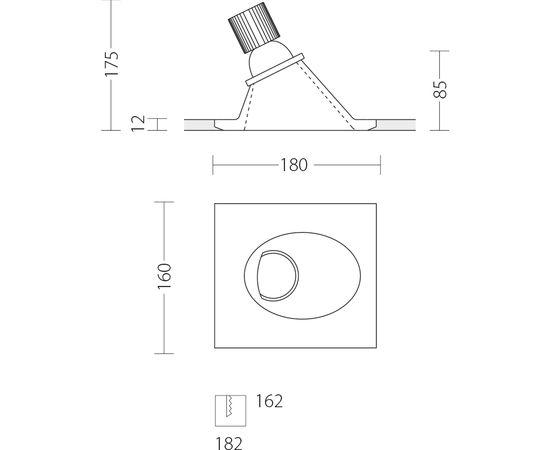 Встраиваемый светодиодный светильник Quattrobi GESSO LED, фото 3