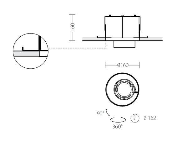 Встраиваемый светодиодный светильник Quattrobi KOR INCASSO, фото 3