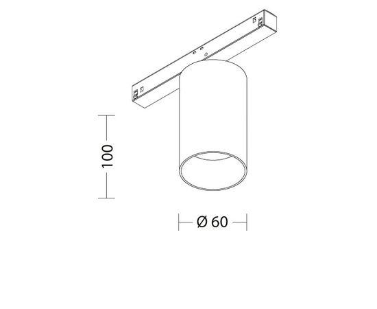 Магнитный трековый светодиодный светильник Quattrobi MAGNETO 01 H, фото 2