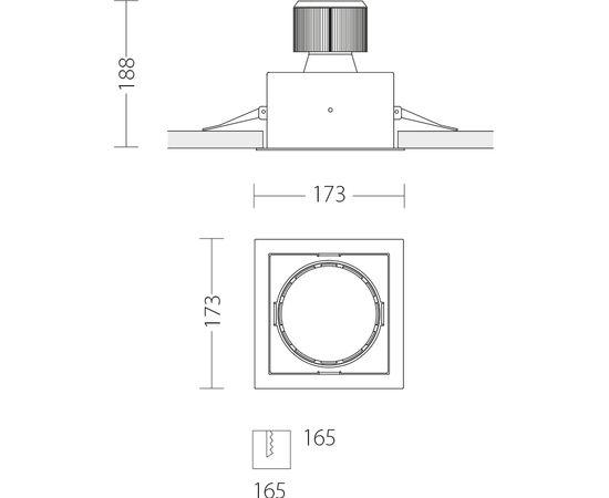 Встраиваемый светодиодный светильник Quattrobi MACROQUADRO LED, фото 2