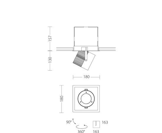 Встраиваемый светодиодный светильник Quattrobi MAX INCASSO, фото 6