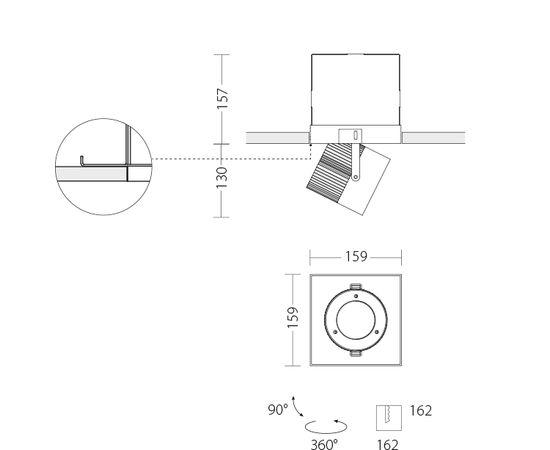 Встраиваемый светодиодный светильник Quattrobi MAX INCASSO, фото 8