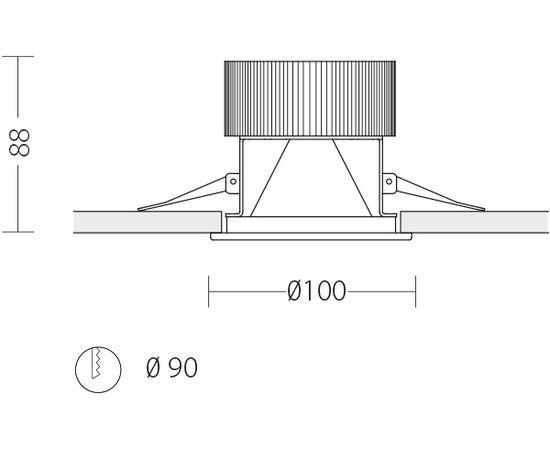 Встраиваемый светодиодный светильник Quattrobi SUNLIGHT, фото 2