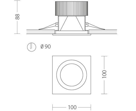 Встраиваемый светодиодный светильник Quattrobi SUNLIGHT, фото 7