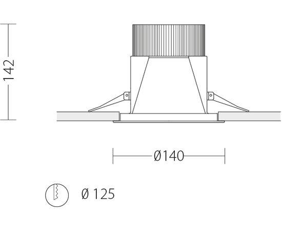 Встраиваемый светодиодный светильник Quattrobi SUNLIGHT, фото 5