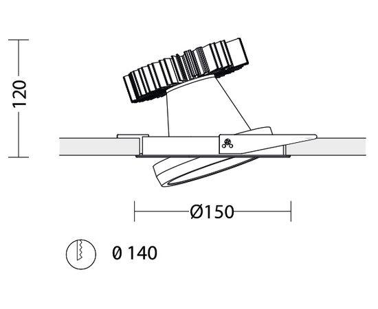 Встраиваемый светодиодный светильник Quattrobi SUNLIGHT, фото 3