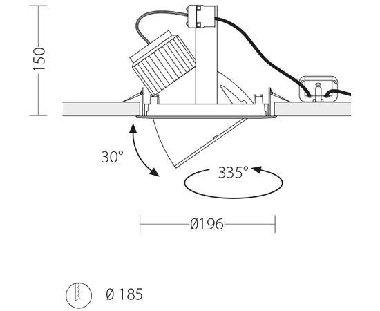 Встраиваемый светодиодный светильник Quattrobi SPINNER FOOD, фото 2