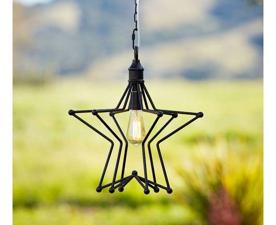 Подвесной светильник Pottery Barn Rustic Star Indoor/Outdoor Pendant, фото 4