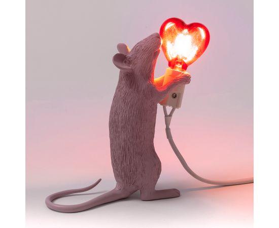 Настольная лампа Seletti Mouse Lamp Love Edition, фото 5