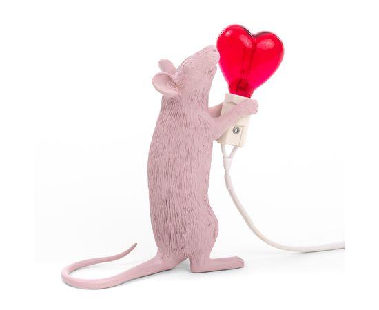 Настольная лампа Seletti Mouse Lamp Love Edition, фото 6