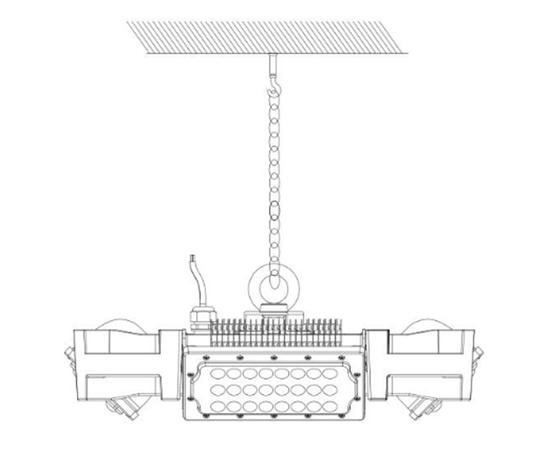 Подвесной светильник 4BAY high bay light purification module, фото 5