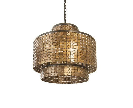 Люстра Philips Collection Armor Chandelier Brass, фото 1