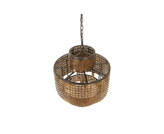 Люстра Philips Collection Armor Chandelier Brass, фото 5