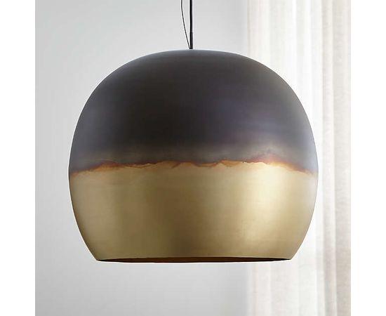 Подвесной светильник Crate and Barrel Elara Metal Globe Pendant Light, фото 8