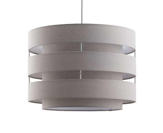 Подвесной светильник Crate and Barrel Harlow Grey Drum Pendant Light, фото 4
