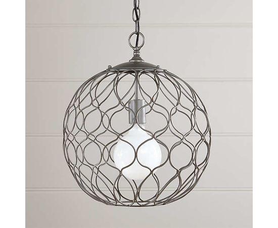 "Подвесной светильник Crate and Barrel Hoyne 15"" Iron Pendant Lamp, фото 1"