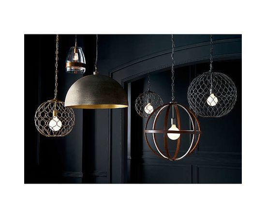 "Подвесной светильник Crate and Barrel Hoyne 15"" Iron Pendant Lamp, фото 7"