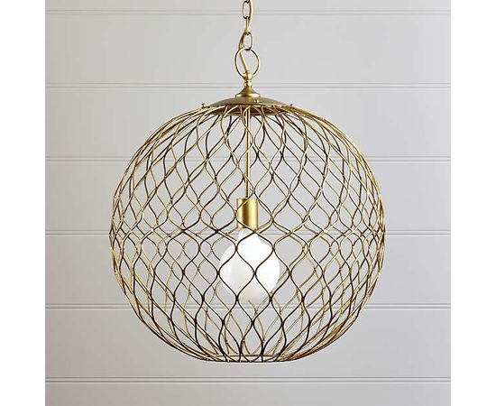 "Подвесной светильник Crate and Barrel Hoyne 15"" Iron Pendant Lamp, фото 6"