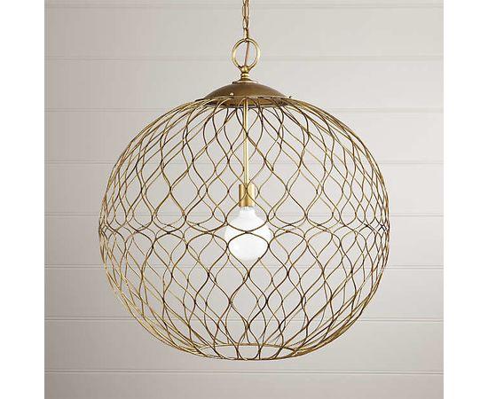 "Подвесной светильник Crate and Barrel Hoyne 15"" Iron Pendant Lamp, фото 3"