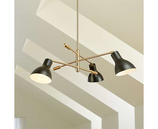 Люстра Crate and Barrel Kace 3 Arm Chandelier, фото 1