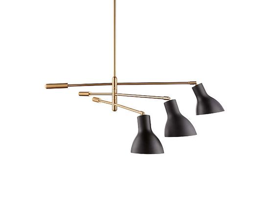 Люстра Crate and Barrel Kace 3 Arm Chandelier, фото 4