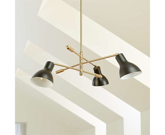 Люстра Crate and Barrel Kace 3 Arm Chandelier, фото 2