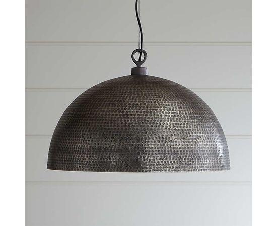 Подвесной светильник Crate and Barrel Rodan Hammered Metal Dome Pendant Light, фото 2