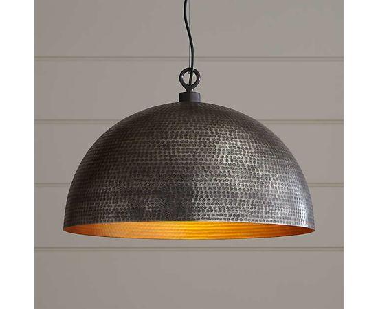 Подвесной светильник Crate and Barrel Rodan Hammered Metal Dome Pendant Light, фото 1