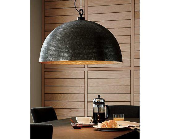 Подвесной светильник Crate and Barrel Rodan Hammered Metal Dome Pendant Light, фото 4