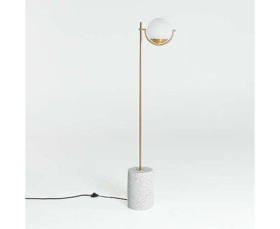 Торшер Crate and Barrel Rondure Globe Floor Lamp, фото 3