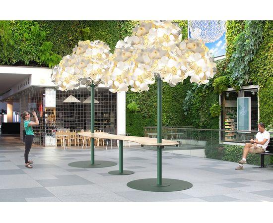 Напольный светильник Green Furniture Concept Leaf Lamp Metal Tree M w Table, фото 10
