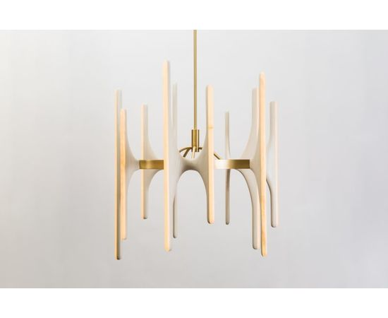 Люстра Markus Haase Bleached Ash and Onyx Chandelier, фото 11