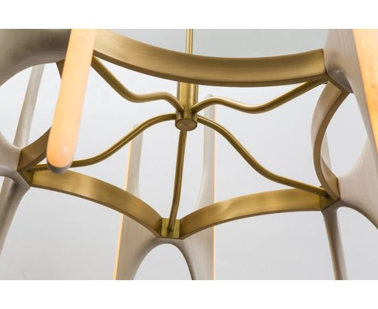 Люстра Markus Haase Bleached Ash and Onyx Chandelier, фото 8
