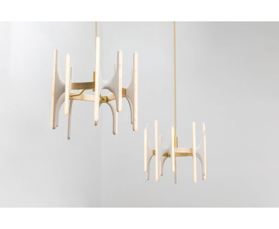 Люстра Markus Haase Bleached Ash and Onyx Chandelier, фото 5