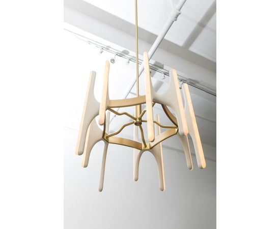 Люстра Markus Haase Bleached Ash and Onyx Chandelier, фото 3