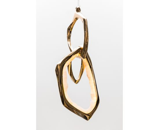 Подвесной светильник Markus Haase Bronze and Onyx Circlet Pendant, фото 4