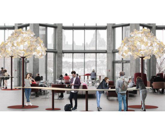 Напольный светильник Green Furniture Concept Leaf Lamp Metal Tree M, фото 4