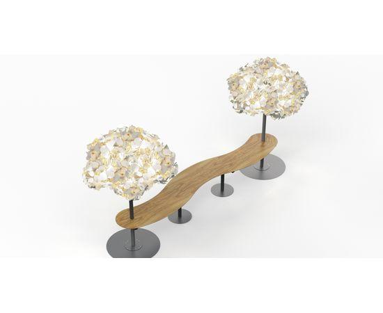 Напольный светильник Green Furniture Concept Leaf Lamp Metal Tree M w Table, фото 5