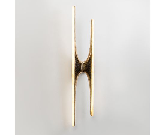 Настенный светильник Markus Haase Wormed Bronze and Onyx Sculptural Sconce, фото 1