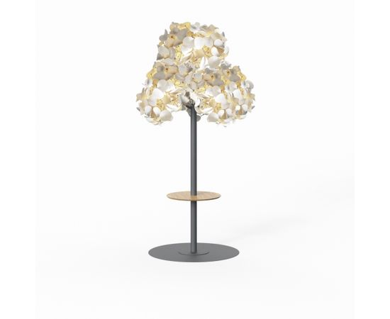 Напольный светильник Green Furniture Concept Leaf Lamp Metal Tree M w Table, фото 1