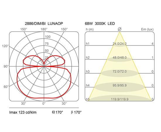 Настенно-потолочный светильник Martinelli Luce 2886 Lunaop, фото 2