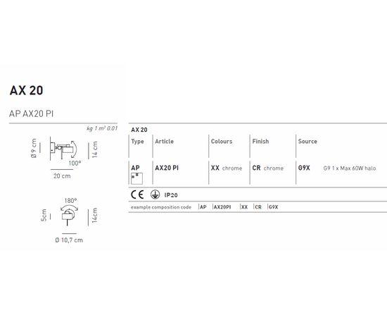 Потолочный светильник Axo Light AP AX20 PI, фото 2