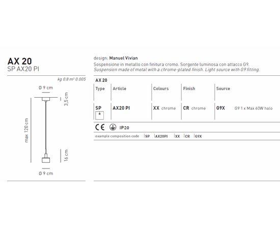 Подвесной светильник Axo Light AX 20 SP AX20 PI, фото 3