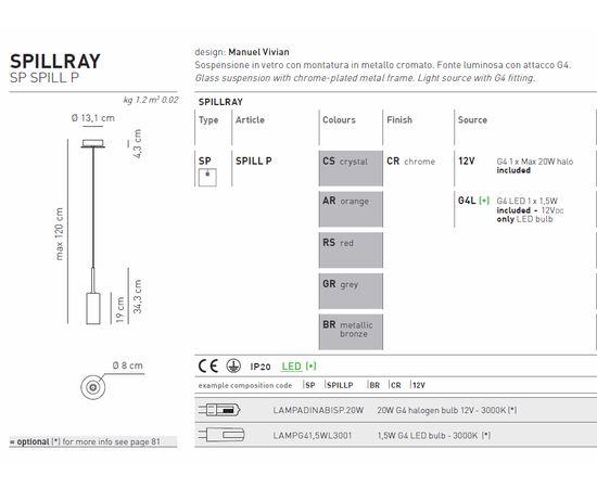 Подвесной светильник Axo Light Spillray SP SPILL P, фото 2